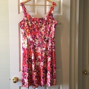 Established 1962 sleeveless, A-line dress
